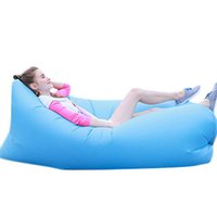 Wholesale S5Q Inflatable Outdoor Camping Sofa Sleeping Bag Lazy Lounger Inflatable Cushion AAAGGQ