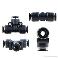 Wholesale 1PC Pneumatic Tee Union Connector Tube OD1 quot One Touch Push In Air Fitting B00104 JUST
