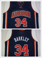 Wholesale Factory Outlet Men s CHARLES BARKLEY Auburn Basketball Jersey Custom any Number and name