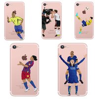 Wholesale Football Star Player TPU Phone Cases for iphone plus S Case with Soccer Prints Customize Acceptable