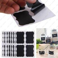 bathroom glass jars - 36Pcs Set Blackboard Sticker Craft Kitchen Jar Organizer Labels Chalkboard Chalk Board Stickers Black