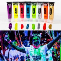 Wholesale ml UV Blacklight Reactive Face Body Paint Art Party Club Fancy Dress Makeup