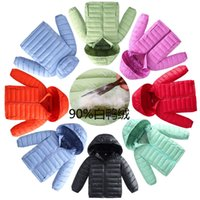 Wholesale Fashion Boys and Girls Outerwear Hooded Warm Coats Child Down Jacket New Color Children s Cotton padded Clothes