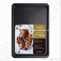 Wholesale Non Stick Baking Pan Tray inch Cookie Sheet Biscuit Pans Cake Bakeware Rectangular Kitchen Steel Toaster Oven Sheet OOA1026