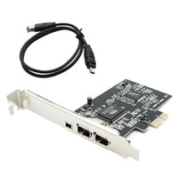 Wholesale NEW PCIe with Pins PCI E FIREWIRE IEEE CARD VIA CHIPSET WORK WIN7 MAC OS pci e to a b WITH CABLE