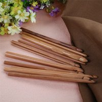 Wholesale LS4G Bamboo Crochet Hooks Knitting Weave Needles Set with Case