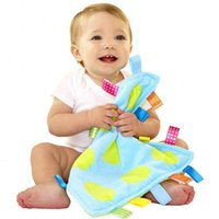 Wholesale cm Baby Appease Square Towel Baby Calm Infant Comfort Towel Toy Plush Colorful Soft