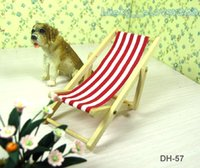 112 dolls house dollhouse furniture miniature park garden decoration wood striped folding beach deck chair mini ornament model gift cheap wooden dollhouse furniture