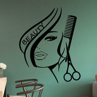 beauty salon wall decal - Handmade Graphic vinyl wall sticker of Beauty Hair Salon for barber shop decorative wall decal mural vinilos pegatinas de pared