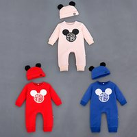 baby happiness - RMY40 NEW Design infant Kids Winter Cashmere Romper China Happiness Mouse long sleeve baby warm Climb clothe boy girls Winter Rompers set