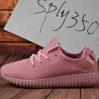 Cheap Adidas Originals 2017 NEW young girl heart lovely pink Yeezy Boost 350 Pirate Black pink Yeezy Boost 350 Quility woman shoes Right Version