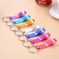 Wholesale Hot Sale Multi Color Pocket Key Chain Beer Wine Bottle Opener Metal Aluminum Alloy Claw Bar Small Beverage Keychain Ring Tool Xmas Gift