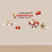Wholesale Christmas Christmas Tree Decorative Wall Sticker Two sided color Christmas cute sticker