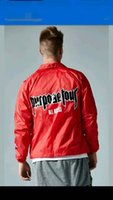 best access - 2017 Best Version purpose tour ALL ACCESS justin bieber FEAR OF GOD FOG MEN RED jacket HIP HOP letter printing Casual Coat S XL