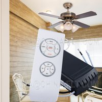 Wholesale Nice Big brand Pated Universal wireless Remote controllers F2 for ceiling fan light of speed and timer