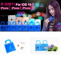 Wholesale R SIM RSIM11 r sim11 R SIM11 UNLOCK card IOS7 IOS8 IOS9 IOS10 R SIM for iphone plus ios7 x CDMA GSM WCDMA SB AU SPRINT G G