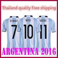 argentina clothes - 2016 Thailand Top Quality Argentina home Quality MESSI DIMARIA AGUERO sports clothing