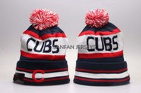 bamboo baseball cap - 8 Colors World Series Champs Baseball Beanie Chicago Cubs Beanies Winter Beanie Men Women Skull Caps Postseason Knit Cotton Hats