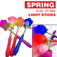 5-7 Years glow lights wholesale - Rice light flash sticks spring fluorescent sticks concert glowing roses stars shaking sticks love particles light