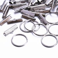 Wholesale 50Set mm Jewelry Findings Components Connectors buckle Metal jewellery clip