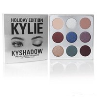 Wholesale HOT Holiday Edition Kylie Cosmetic Limited Collection Kyshadow Palette matte lipstick makeup bag creme shadow Christmas gift