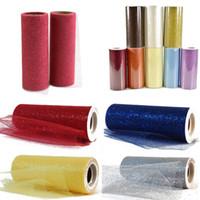al por mayor carrete de tul rojo-Multicolors Tutu Brillo Tulle Roll Spool 6