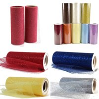 Wholesale Multicolors Tutu Glitter Tulle Roll Spool quot x yards Fabric Netting Wedding Sparkle Gift Wrap Bow Craft