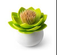 Wholesale Lotus Cotton swab box lotus cotton bud holder base room decorate Lotus Toothpicks holder Toothpick case