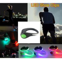 Wholesale 500pcs pairs LED Shoe Clip Lights Bike Cycling Caution Light Night Running Safety Luminous Flashing Light Neon Light For Party Decorati