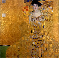 bauer paintings - Framed Gustav Klimt Female Portrait of Adele Bloch Bauer I Handcrafts Art Oil painting On Quality Canvas Multi sizes Available Kl001