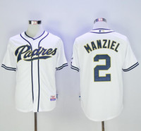 Wholesale San Diego Padres Mens Jerseys Johnny Manziel White Coolbase Baseball Jersey Stitched Name