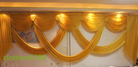 beige curtain valance - 6m wide swags valance wedding stylist backdrop Party drop Curtain Celebration Stage Performance Background