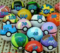Wholesale 2016 cm pokeball poke ball go figures For Cosplay Plastic Poke Ball Manga Toy for kid DHL Free