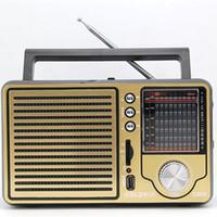 AM / FM antique radios - Antique vintage retro full band Portable FM radio older desktop support USB elderly consumer electronics gift