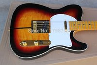 Wholesale TL Sunburst Custom Shop TUFF DOG TEL Signature Electric Guitar Golden Hardware
