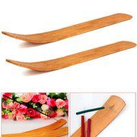 Wholesale Natural Plain Wood Wooden Incense Stick Ash Catcher Burner Holder inch Incense Stick Holder Home Decor