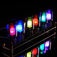 Wholesale Aurora LED Colorful Light Cube DIY Kit Chromatography Glass Clock