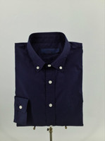 Wholesale 2017 New Fashion Spring And Autumn Mens Casual Shirts Long Sleeve Cotton Oxford Solid Turn down Collar Single Breasted Comefortable