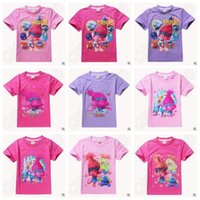 Wholesale Newly Styles Trolls Kids T Shirts Poppy Branch Cartoon Short Sleeve Tee Shirts Girls Top Tees CCA5432