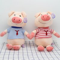 Farm Animals animal farm pigs - Factory direct super Granville than the pig plush toy doll red and blue clothes children s birthday gift cartoon cartoon soft doll