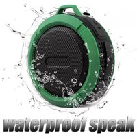 suction hook - Newest C6 Speaker Bluetooth Speaker Wireless Potable Audio Player Waterproof Speaker Hook And Suction Cup Stereo Music Player