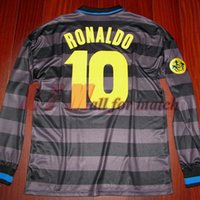 Wholesale The U A Cup final inter Match Worn Player Issue Shirt Jersey Long sleeves RONALDO Football Rugby Custom Patches Sponsor