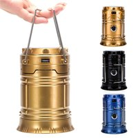 Wholesale Camping Lantern Solar Flashlights LED Camp lantern Portable Outdoor Water Resistant Ultra Bright Rechargeable Lanterns