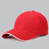 al por mayor paneles de velcro-Las gorras de béisbol blancas al por mayor del algodón, 6 paneles 100% algodón Las gorras llanas de la manera, la insignia del OEM y el gráfico se pueden imprimir y bordar HFCC001