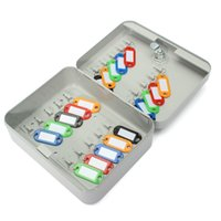 Wholesale Freeshipping Lockable Security Metal Key Cabinet Storage Box Safe Tags Fobs Wall Mounted