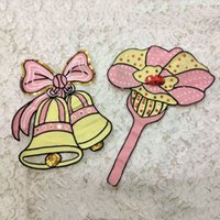 bell patch - 20pcs Christmas Decor Bell Flower Backing Patch For Clothing Iron Patches parches Embroidered Jacket Patchwork Applique Clothes Accessories