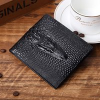 alligator money clip - Hot selling high quality money clip card holder men wallet card holder genuine leather brown retail
