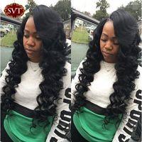 Wholesale Grade A Brazilian Loose Wave Virgin Hair Weave Human Hair Extentions B Natural Black quot quot Brazilian Loose Wave weave