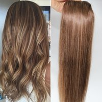 auburn highlights - Balayage Auburn Brown Highlight Ombre Straight Unprocessed Human Remy Hair Eextension