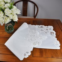 Wholesale 33 x Inch Square Polyester Tablecloth by Hand Embroidered